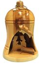 Olive Wood Bell Nativity Ornament