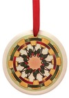 Ceramic Ornament  Joy to the World Bell Wreath
